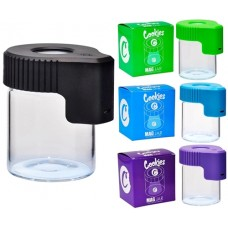 Cookies LED Light Rechargeable Magnifying Stash Jar Container