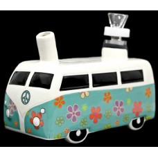 "6"" Ceramic Water Pipe - Hippie Mobile"