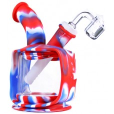 """6"""" Silicone Glass Kettle Water Pipe With Banger"""