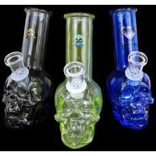 "6"" Mini Soft Glass Skull Water Pipe"