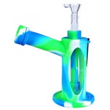 """7"""" Silicone Shower Diffuser Glass Window Water Pipe"""
