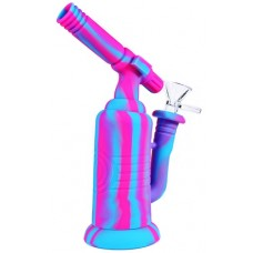 """8"""" Torch Silicone Water Pipe With Glass Bowl"""