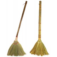 All Natural Vietnamese Straw Broom (40 Inch) 20pk Assortment