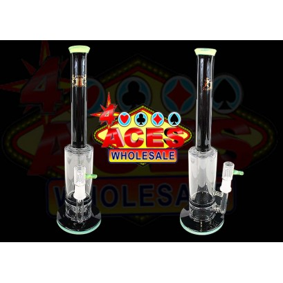 """12"""" Micro Glass Black Honeycomb With Slime 14mm Oil Rig"""