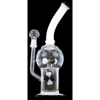 "11"" Double Molecular Perk 14mm Oil Rig"
