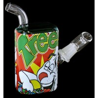 "5"" Green Trees Cereal Box 14mm Oil Rig Water Pipe"