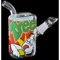 "5"" Clear Trees Cereal Box 14mm Oil Rig Water Pipe"