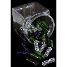 50ct Small Glass Rolling Tips With Display Jar
