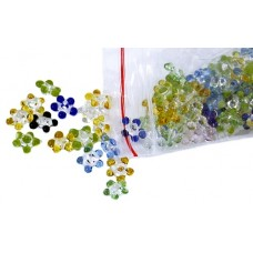 100ct Jumbo Mixed Color Flower Glass Screen