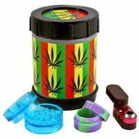 Pollen Box Grinder Stash Swivle Pipe Kit