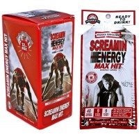 Screamin Energy Max Hit Ginseng Energy Drink 12pk