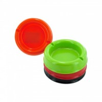 6ct Round Plastic Ashtray