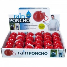 Rain Poncho In A Ball With 24pc Display
