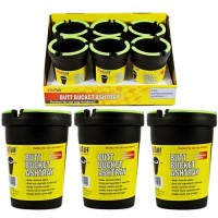 Butt Bucket Cup Holder Ashtray - Black with Glow In The Dark 6pk