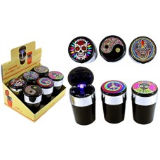 Cup Holder Ashtray Designs With LED Light 6pk