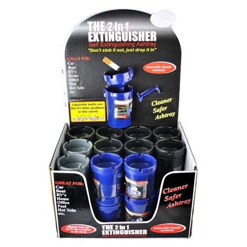The 2 In 1 Extinguisher Cup Holder Ashtray 24pk