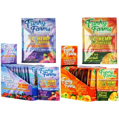 Funky Farms CBD Extracts 25mg Powdered Drink Packets