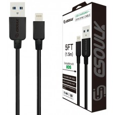5ct Esoulk 5FT USB Charging Data Sync Cable - IOS Lightning Cable