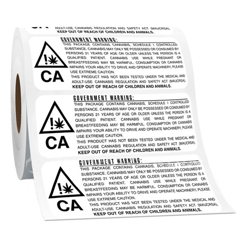 California RX Medical Compliant Government Warning Label