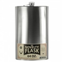 Oversized Stainless Steel Novelty Flask 64oz