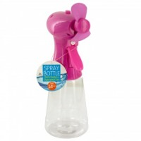 Spray Bottle with Battery Operated Fan 14oz