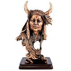 Native American Indian Chief Bust Statue