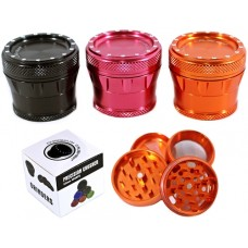 Chromium Crusher 53mm Bling Top 4pc Precision Herb Grinder