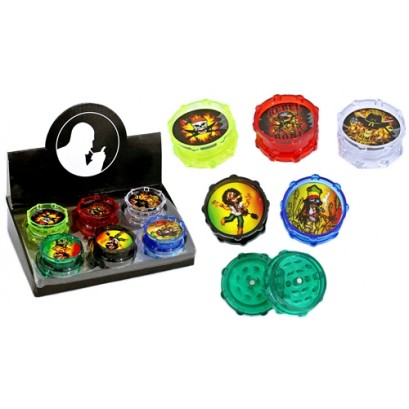 12ct 50mm Color Mix 2pc Acrylic Grinder