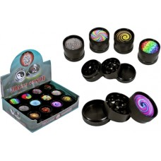 Kaleidoscope 3pc Tobacco Grinder Mini Mix 12pk - 30mm