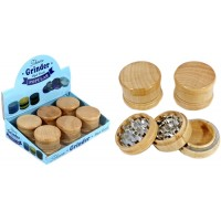 Wood Design 3pc Tobacco Metal Grinder 6pk - 60mm