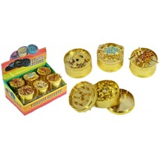Animal Bling 3pc Tobacco Metal Grinder 12pk - 50mm