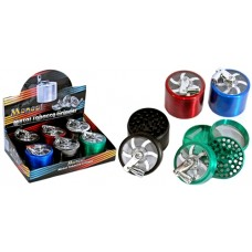 Manual Metal Tobacco Grinder 4pc - 60mm 6pk