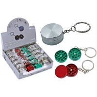 Mini 2pc Key Chain Grinder 24pk
