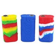 10ct Silicone Lighter Shape Metal Pipe Assortment