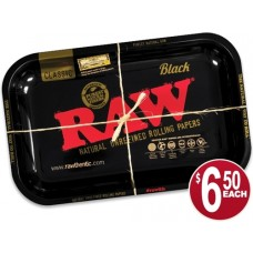 Raw Rolling Tray Metal - Black