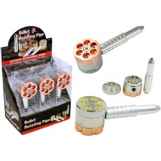 Bullet 6 Chamber Revolver Pipe and Grinder 6pk