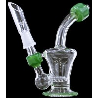"5"" Curved Mini Inline 10mm Oil Rig"