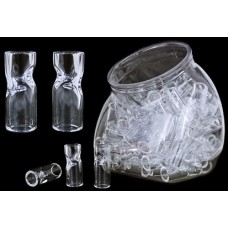 75ct Glass Tips With Display Jar
