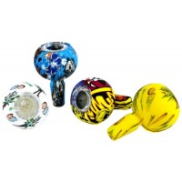 10ct Silicone Glass Bowl With Built In Screen - Mix Character Designs