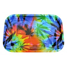 Tie Dye Leaf Color Rolling Tray - Small