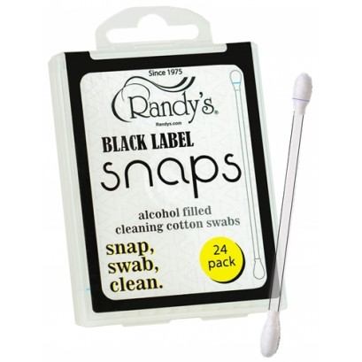 Randys Black Label Snaps 24pk Alcohol Filled Cleaning Cotton Swabs