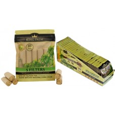 King Palm Natural Corn Husk Filters 24pk - 10mm