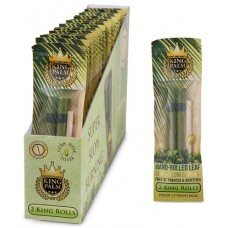 King Palm Natural Leaf Rolls (24 King Pouches - 2 Rolls/Pouch)