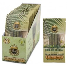 King Palm Natural Leaf Rolls (24 Mini Pouches - 4 Rolls/Pouch)