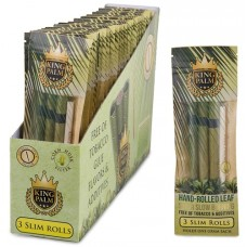 King Palm Natural Leaf Rolls (24 Slim Pouches - 3 Rolls/Pouch)