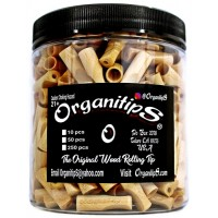 OrganitipS Original Wood Rolling Tip - 250pc Jar