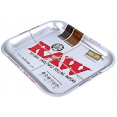 Raw Rolling Tray Metal Silver - Large