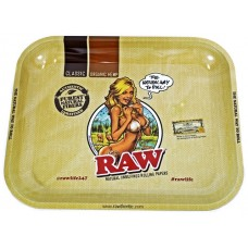Raw Rolling Tray Metal Large - Lady