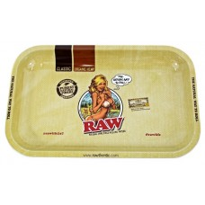 Raw Rolling Tray Metal Small - Lady