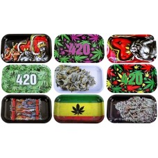 10ct V Syndicate Metal Rolling Tray Assortment - Medium